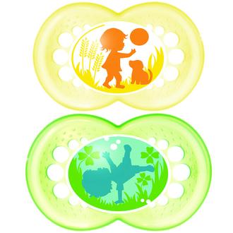 MAM Original - Ορθοδοντική Πιπίλα Καουτσούκ. 2τμχ. 16+μηνών ( yellow-green) 251L μητερα   παιδι   αξεσουαρ βρεφουσ   πιπιλεσ   16  μηνών
