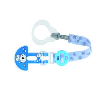 Mam Clip It - Κορδέλα Στήριξης Πιπίλας Αρκούδα (330) 0+ blue μητερα   παιδι   αξεσουαρ βρεφουσ   αλυσιδεσ πιπιλασ