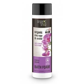Natura Siberica - Purple Orchid, Bath Foam , Αφρόλουτρο Φασκόμηλο & Ορχιδέα, 500 γυναικα   σωμα   αφρολουτρα