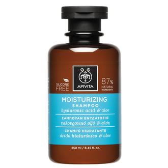 Apivita - Moisturizing Shampoo 250ml - Σαμπουάν Ενυδάτωσης με Υαλουρονικό Οξύ &  γυναικα   μαλλια   σαμπουαν   ξηρά αφυδατωμένα
