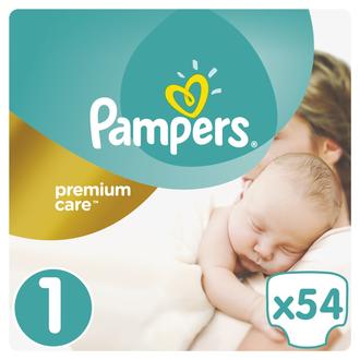 Pampers Premium Care Babyborn - Βρεφικές Πάνες Ν: 1 - 54τμχ (2-5kg) πακετα προσφορων   πακετα προσφορων p g