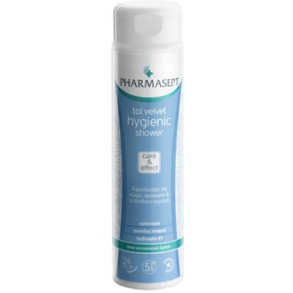 Pharmasept Tol Velvet Hygienic Shower 300ml.Αφρόλουτρο με ήπια αντισηπτική δράση γυναικα   σωμα   αφρολουτρα