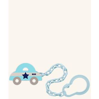 Nuk Αλυσίδα Πιπίλας (10.751.023) για Πιπίλες με Κρίκο σε χρώμα Μπλε ,(Αυτοκινητά μητερα   παιδι   αξεσουαρ βρεφουσ   αλυσιδεσ πιπιλασ