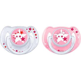 Avent Νυχτερινη Ορθοδοντικη Πιπιλα Σιλικόνης 6-18 Μηνών Ροζ 176/24 μητερα   παιδι   αξεσουαρ βρεφουσ   πιπιλεσ   6 18 μηνών