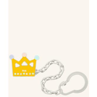 Nuk Αλυσίδα Πιπίλας (10.751.023) για Πιπίλες με Κρίκο σε χρώμα κίτρινο,(Στέμμα)  μητερα   παιδι   αξεσουαρ βρεφουσ   αλυσιδεσ πιπιλασ