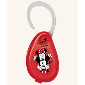 NUK Disney Mickey Θήκη πιπίλας Κόκκινο (10.256.415) μητερα   παιδι   αξεσουαρ βρεφουσ   αλυσιδεσ πιπιλασ