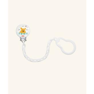 Nuk Αλυσίδα Πιπίλας Disney Winnie the Pooh με Άσπρο Αλυσιδάκι. - 10.256.256 μητερα   παιδι   αξεσουαρ βρεφουσ   αλυσιδεσ πιπιλασ