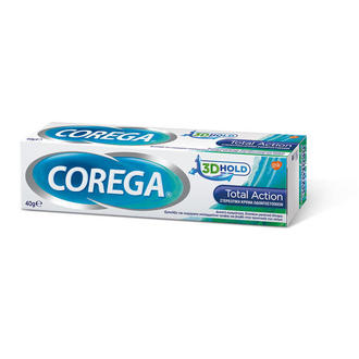 Corega 3D Hold Total Action Στερεωτική Κρέμα Οδοντοστοιχιών 40g προσωπικη υγιεινη   στοματικη υγιεινη   περιποιηση οδοντοστοιχιων