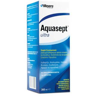 Aquasept Ultra 360ml-Διάλυμα Καθαρισμού Φακών Επαφής προσωπικη υγιεινη   ματια   υγρα φακων επαφησ