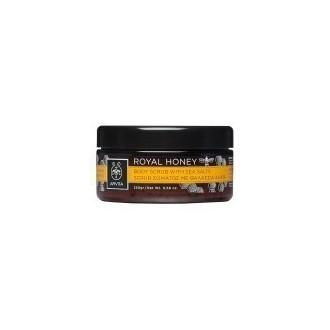 Apivita Royal Honey, Scrub - Απολέπιση Σώματος με Μέλι & Θαλάσσια Άλατα 250gr. γυναικα   σωμα   ενυδατωση απολεπιση