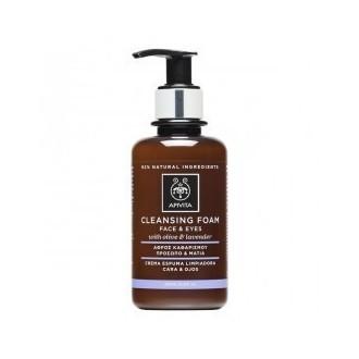 Apivita Cleansing Foam - Αφρός Καθαρισμού Πρόσωπο & Μάτια με Ελιά και Λεβάντα-Γι γυναικα   προσωπο   καθαρισμοσ ντεμακιγιαζ