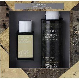 Korres Fragrance Collection Πακέτο Προσφοράς Ανδρικό Άρωμα Black Pepper Cashmere ανδρασ   περιποιηση σωματοσ   αφρολουτρα  σαπουνια
